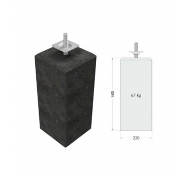 Patio pedestal grey 1x60W 230V