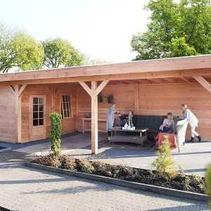 Gartenhäuser mit Erweiterung